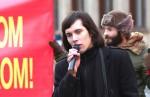 Protestujúci proti búraniu PKO - Lukáš Perný; foto:  Jozef Šolc