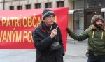 Protestujúci proti búraniu PKO; foto:  Jozef Šolc