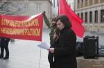 Lukáš Perný na proteste proti búraniu PKO; foto:  Jozef Šolc