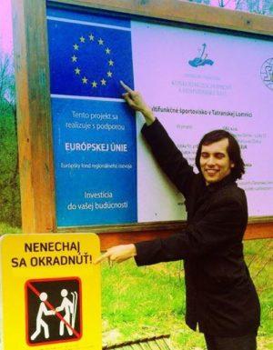 Nenechaj sa okradnúť - fotka z Vysokých Tatier, žiadna fotomontáž