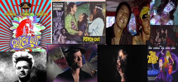 Žánrovo psychedelické filmy The Trip, Psych Out, Mazacia hlava